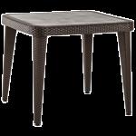Стол Tilia Osaka 90x90 см ножки пластиковые венге