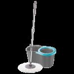 Набор для уборки Planet Spin Mop Joy 16 л серый - синий