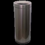Ведро для мусора JAH 25 л круглое тёмно-серебряный металлик без крышки и внутреннего ведра