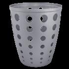 Корзина для бумаг Евро 13,5 л серая, офисная корзина для мусора