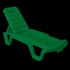 Шезлонг лежак Бриз зеленый