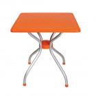 Стол квадратный Irak Plastik Alfa 70x70 оранжевый