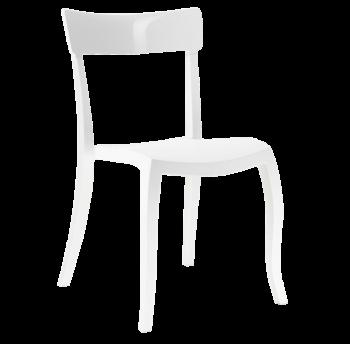Стул Papatya Hera-S белое сиденье, верх белый