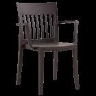 Кресло Papatya Eden-K матовое тёмно-коричневое