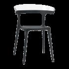 Кресло Papatya Luna черное сиденье, верх прозрачно-чистый