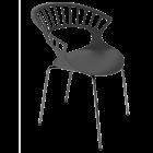 Кресло Papatya Tiara антрацит, база антрацит