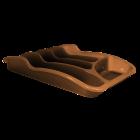 Лоток для столовых приборов темно-коричневый