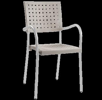 Кресло Papatya Karea слоновая кость, база алюминий