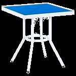 Стол Tilia Kobe 60x60 см столешница из стекла белый - голубой