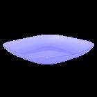 Тарелка 25х25х3 см прозрачно-фиолетовая