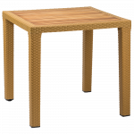 Стол Tilia Antares 80x80 см столешница ироко, ножки пластиковые цвет дерево
