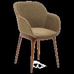 Крісло Tilia Shell-W Pad ніжки букові, сидіння з тканиною PIED DE POULE 03