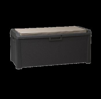 Сундук пластиковый Santorini Plus 550 л антрацит с подушкой Toomax