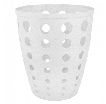 Корзина для бумаг Евро 13,5 л белый флок, офисная корзина для мусора