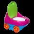 Горшок детский музыкальный красно-голубой, зеленая крышка