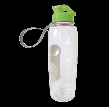 Бутылочка для воды 0,7 л прозрачно-зеленая
