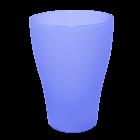 Бокал 0,5 литра прозрачно-фиолетовый