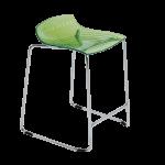 Барное кресло Papatya X-Treme Sled прозрачно-зеленый