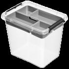 Бокс прямоугольный Orplast 3 л с вставкой крышкой клипсами прозрачный