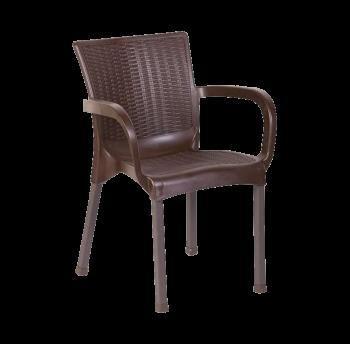Кресло Орхидея под ротанг коричневое