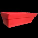 Грядка пластиковая 210 л красная