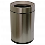 Ведро для мусора JAH 12 л круглое серебряный металлик без крышки с внутренним ведром