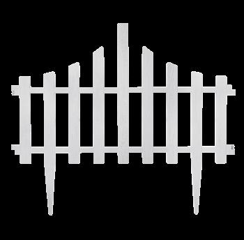 """Набор ограждение для газона """"Заборчик"""" (4в1) белый флок"""