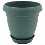 Горшок для цветов Nergiz 1,5 л тёмно-зеленый