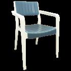 Кресло Irak Plastik Infinty бело-графитовое