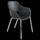 Кресло Papatya Opal матовый антрацит, база хром