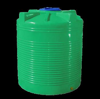 Емкость 500 л вертикальная двухслойная зеленая