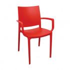 Крісло Irak Plastik Lara темно-червоний