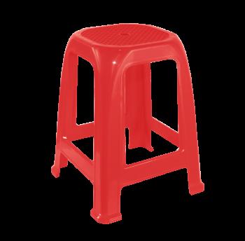 Табурет пластиковый Пиф красный
