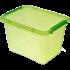 Бокс прямоугольный Orplast 19 л с крышкой клипсами зеленый