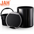 Сенсорное мусорное ведро JAH 6 л круглое тёмно-серебряный металлик с внутренним ведром
