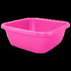 Таз квадратный 14л розовый