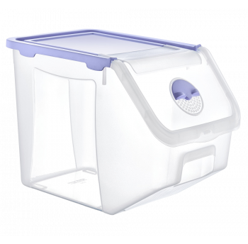 Контейнер 14 л для хранения пищевых продуктов фиолетовый