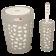 Набір для ванної кімнати Planet Stone 2 предмета сірий-крем