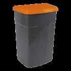 Бак мусорный 90л темно-серый оранжевый