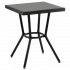 Стіл Tilia Kobe 60x60 см стільниця зі скла чорний - чорний
