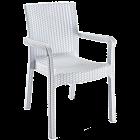 Крісло Irak Plastik Markiz під ротанг білий