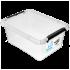Бокс прямоугольный Orplast 12,5 л с крышкой клипсами прозрачный