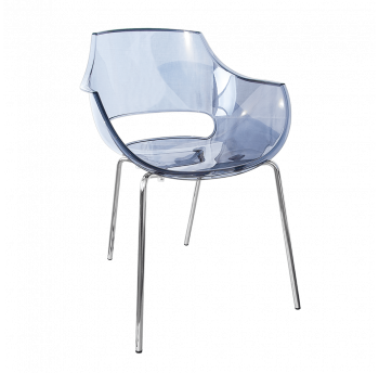Крісло Papatya Opal прозоро-сіре
