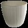 Горщик для квітів Basak 1,5 л біло-сірий