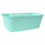 Мусорник для кухни навесной бирюзовый