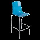 Барный стул Papatya X-Treme BSL прозрачно-синий