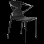 Крісло Papatya Ego-K чорне сидіння, верх чорний