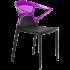 Кресло Papatya Ego-K черное сиденье, верх прозрачно-пурпурный