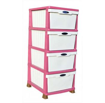 Комод пластиковый большой классический розовый