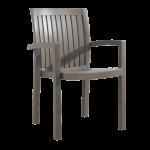 Кресло Papatya Нета серо-коричневый